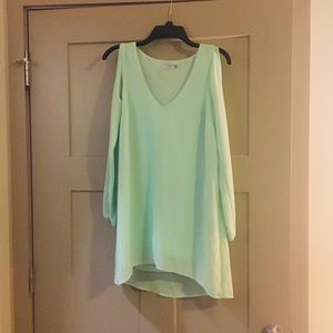 Mint Green Slit Sleeve Summer Dress!